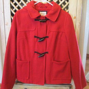 Red OLD NAVY Women Teen Small Hooded Wool PEA COAT